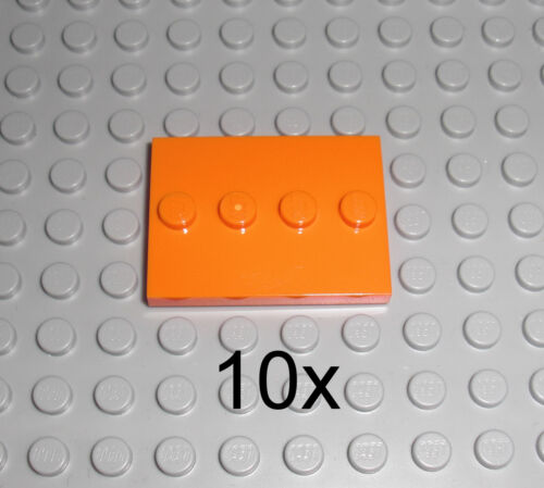 LEGO - 10x Standplatte Minifigur in ORANGE - Fliese 3x4 Stand Platte 71021 88646