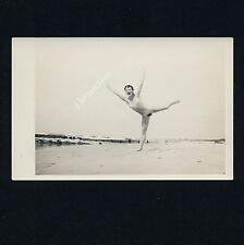 Nudism NUDE GYM ON THE BEACH / NACKT AM STRAND FKK * Vintage 60s Amateur Photo 2