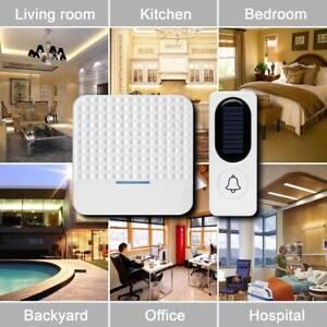 Solare-Campanello-Senza-Fili-da-Esterno-Impermeabile-IP44-Wireless-Doorbell
