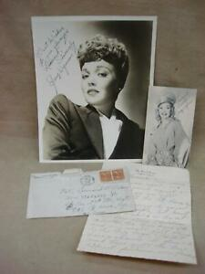 RARE-DATED-44-039-AUTHENTIC-JANE-WYMAN-PHOTO-LETTER-amp-AUTO-MRS-REAGAN-LETTERHEAD