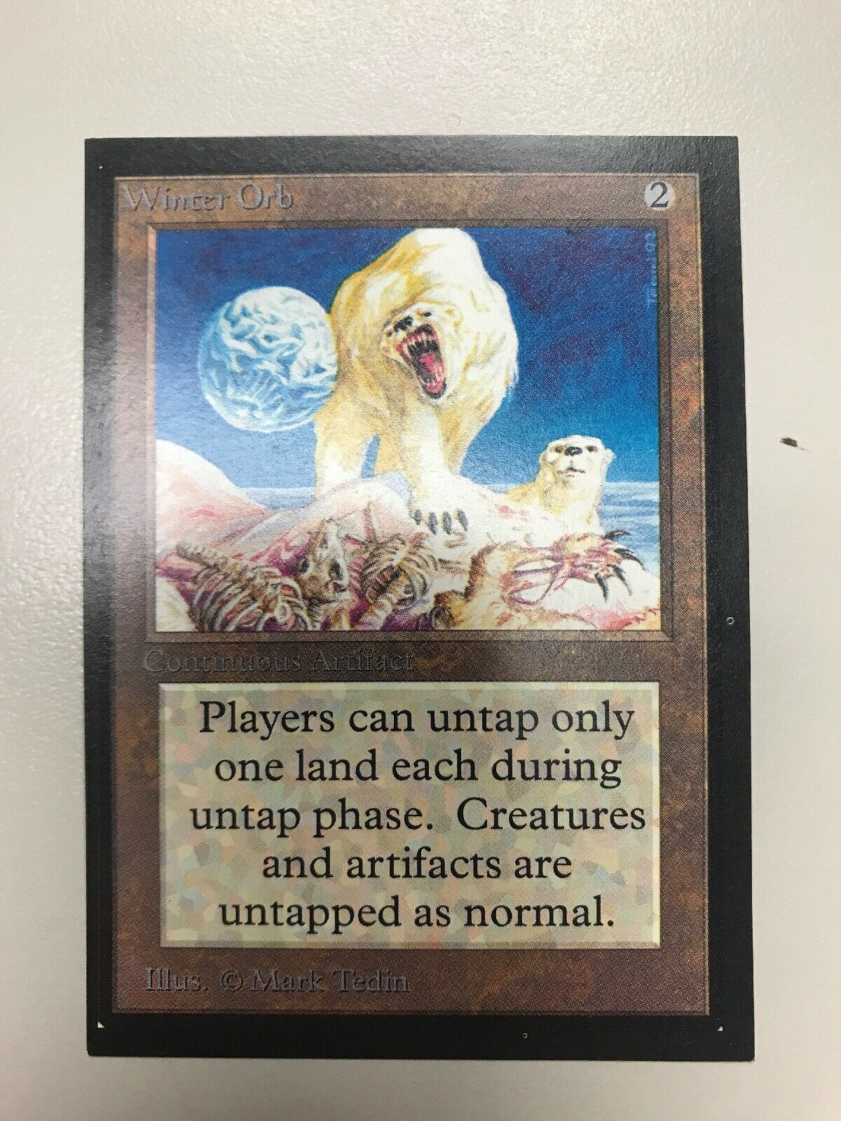 MtG Winter Orb X1 Collector's Edition Magic the Gathering CE 93 94 UNPLAYED NM