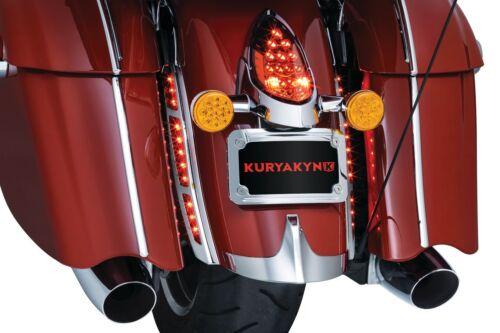 Kuryakyn 2899  L.E.D /'14-/'20 Satin Black Rear Fender Strip Lights Indian