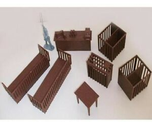 Marx-Pet-Shop-Furniture-Store-1-32-54MM-Toy-Playset-Dog-Pens-Table-Cages-Toy