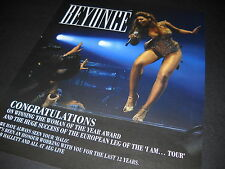 BEYONCE 2003 danger//love BIG 2 sided promotional poster~NEW old stock~MINT cond~