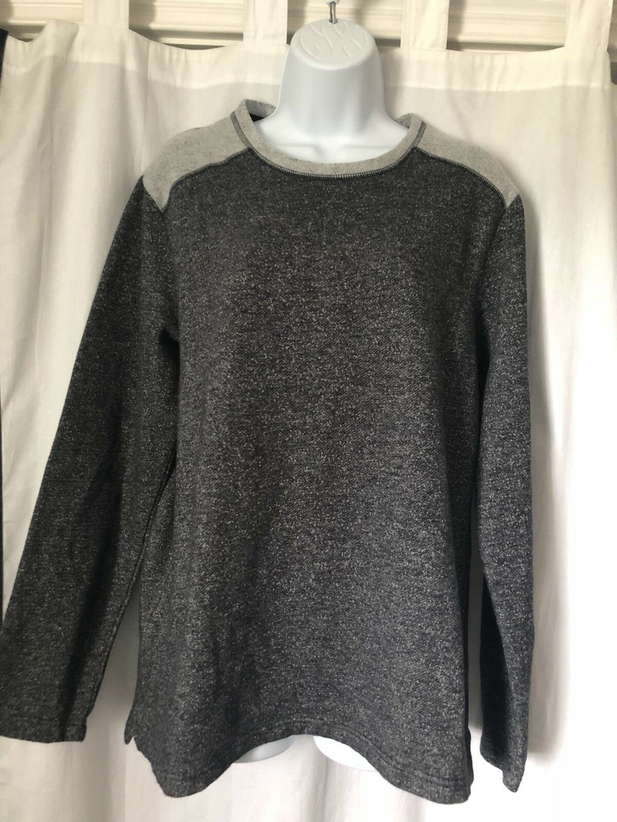 Tommy Bahama Womens Pullover Sweatshirt Size L Charcoal Gray