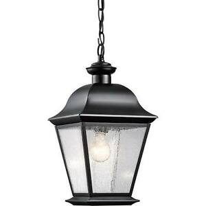 black outdoor lantern lights hanging image is loading kichlermountvernon9809bkblackoutdoorhangingpendant kichler mount vernon 9809bk black outdoor hanging pendant lantern