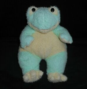 12-034-TY-BABY-SOFT-GREEN-FROG-FROGBABY-RATTLE-1999-STUFFED-ANIMAL-PLUSH-TOY-PILLOW