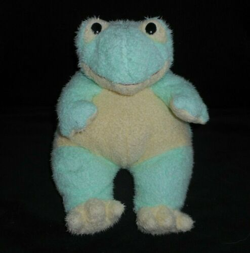 """12/"""" TY BABY SOFT GREEN FROG FROGBABY RATTLE 1999 STUFFED ANIMAL PLUSH TOY PILLOW"""