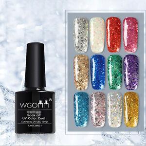 Diamond Glitter Sparkle Nail Art Gel Polish Shining Led Soak Off Uv