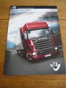 Details about SCANIA V8 TRUCKS, 2010, LORRY TRUCK COMMERCIAL BROCHURE