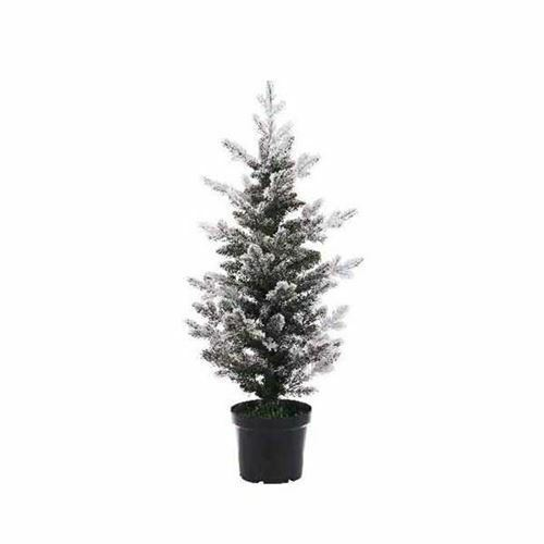 90cm Calgary Snow Flocked Potted Pencil Pine Artificial Christmas Tree |  eBay - 90cm Calgary Snow Flocked Potted Pencil Pine Artificial Christmas