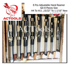 8 Pcs Adjustable Hand Reamer Set 8 Pieces Size H4 To H11 1532 To 1116 New
