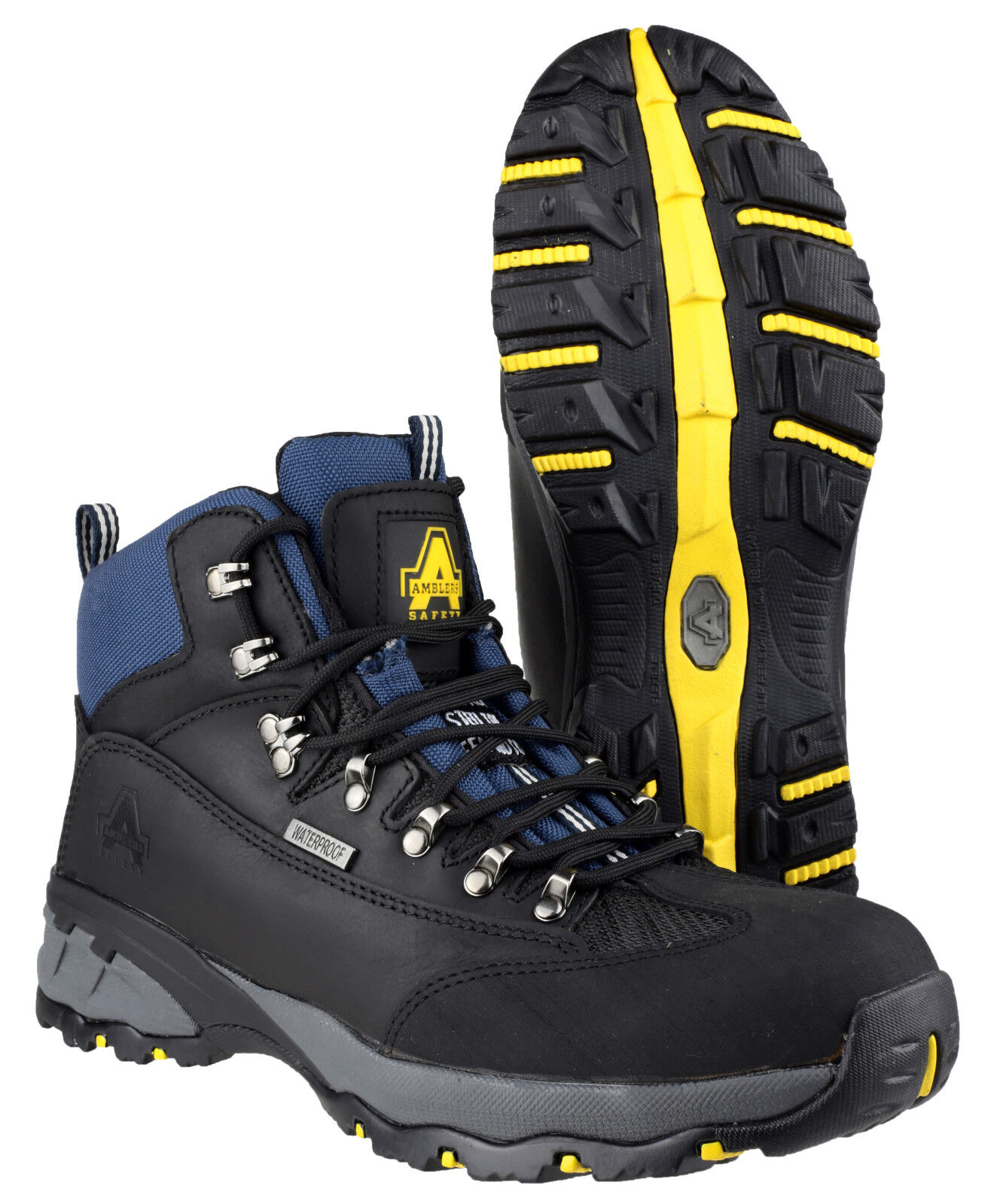 Amblers FS161 Waterproof Safety Mens Steel Toe Cap Walking Hiking Boots UK4-12