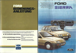 FORD-SIERRA-1-1985-Betriebsanleitung-82-Bedienungsanleitung-Handbuch-2teilig-BA