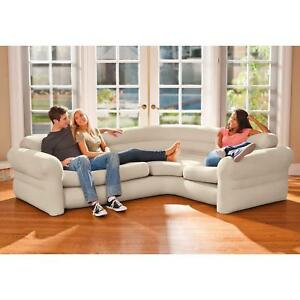 save off c8f7a d4300 Details about Ultra Comfort Sleeper Futon Blow Up Sectional Couch Corner  Sofa Bed Living Room