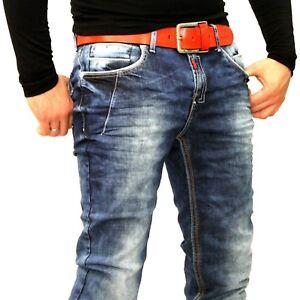 Jeans Dicke neal 8323 Hose Brandneue Used R Denim 30 Fit Straight Blau Naht Look qwYpqxRS
