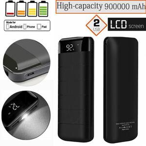 900000mAh LED Anzeige PowerBank Zusatzakku Batterie Ladegeräte für alle Handy