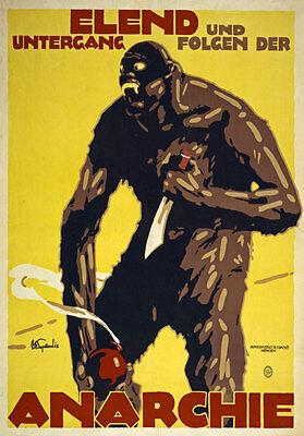 PROPAGANDA WAR SPANISH CIVIL FAI CNT ANARCHY SPAIN OLD ADVERT POSTER 1973PYLV