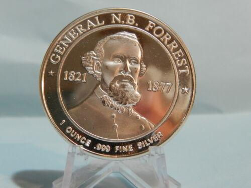 Forrest Deo Vindice 1 Oz .999 Fine Silver 1862 Confederate States General N.B