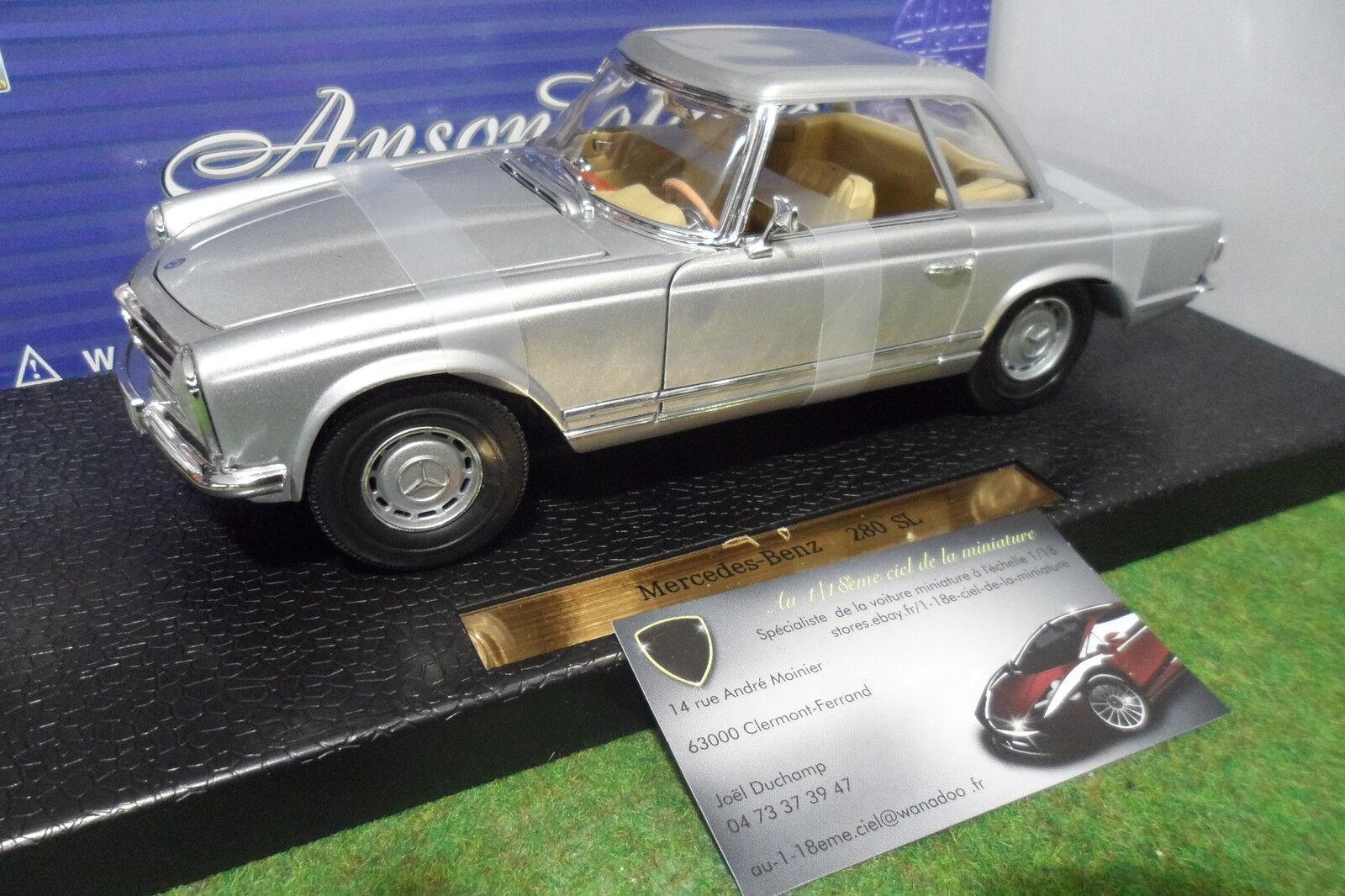 MERCEDES  BENZ  280 SL cabriolet HT 1 18 ANSON 30380 voiture miniature collection  commander maintenant les prix les plus bas