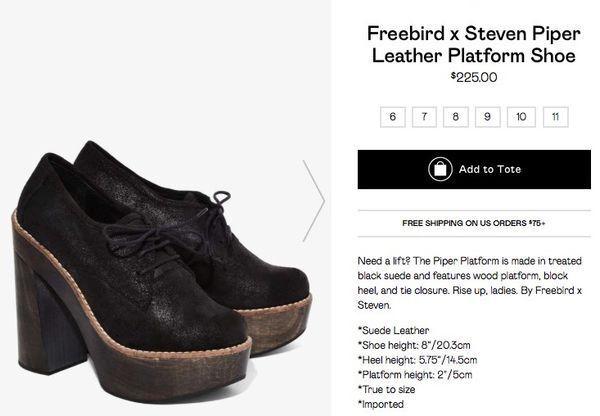 FREEBIRD By Steven PIPER PLATFORM    marron Leather MSRP  225 SZ UP 3d4fbe