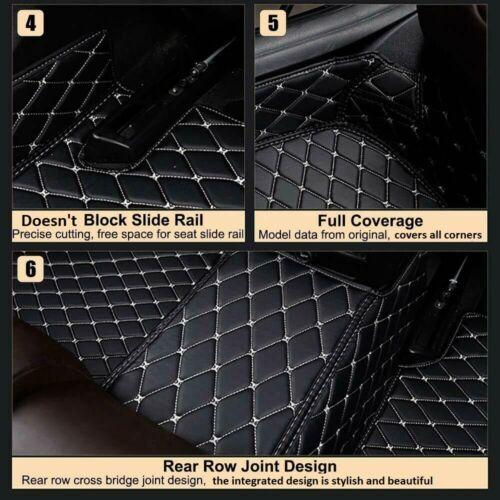 De Luxe Sur Mesure Couverture Complète Voiture Tapis de sol en cuir pour Audi A3 8p UK