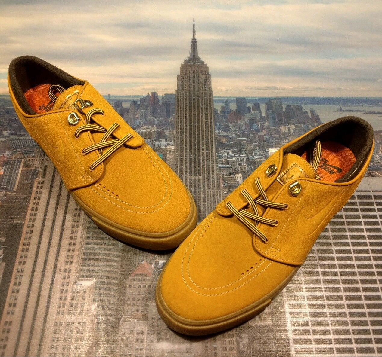 Nike SB Zoom Stefan Janoski PRM Premium Bronze Gum Mens Size 9 AR1575 779 New