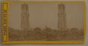 Parigi-Torre-Smerlata-Francia-Foto-Stereo-L44-Vintage-Albumina-c1870