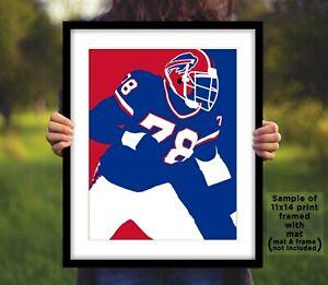 Bruce Smith Signed Buffalo Bills 8x10 Photo Reprint