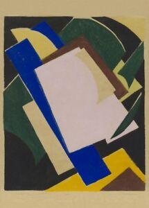 Blue Yellow 1917 Black Lyubov Popova Suprematism Avant-Garde Poster