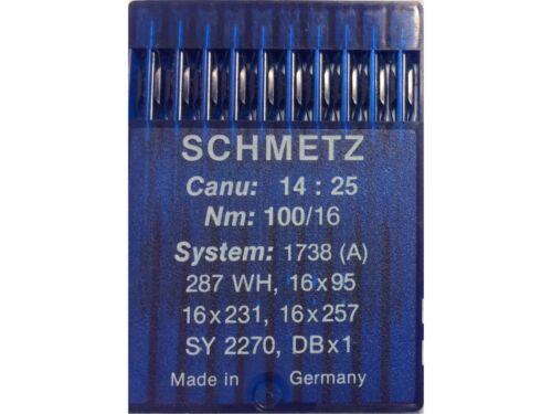 Schmetz 10 Nähmaschinennadeln Stärke 100 System 438 oder 265 oder SY 8122
