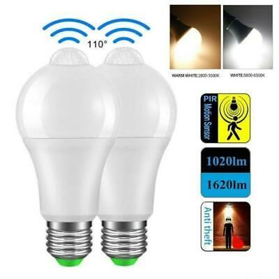 PIR Motion Sensor Bulb E27 12W LED Lamp-Infrared Auto Energy-Saving Lights-US