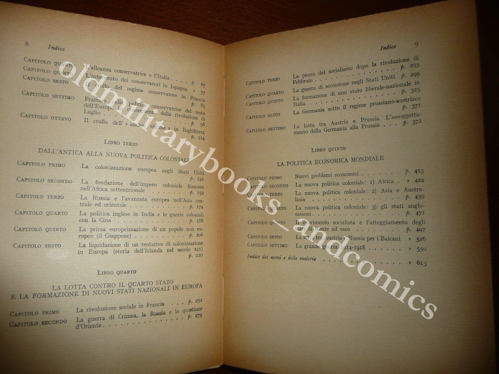 STORIA UNIVERSALE DEGLI ULTIMI CENTO ANNI 1815-1920 EDUARD FUETER 1950 III^ Ed.