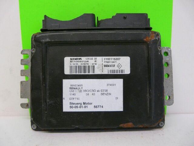 Motorsteuergerät Siemens S110030104E 7700115207 RENAULT CLIO 2 | eBay