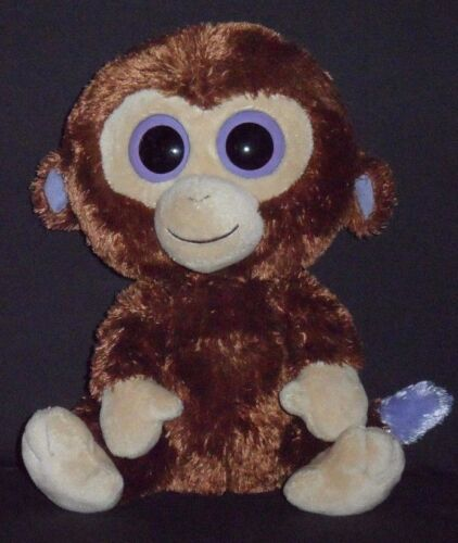 """TY BEANIE BOOS COCONUT the 9/"""" MONKEY NO HANG TAG #2"""