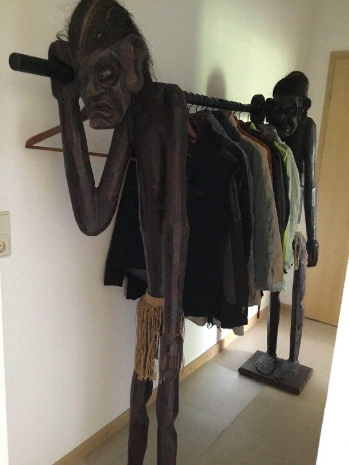 XL Garderobe Garderobenständer Figuren Waldläufer Ureinwohner Eingeborene Holz