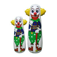 Clown Punching Bag Vintage Style Child Boxing Toy Inflatable Blow Up Bouncing