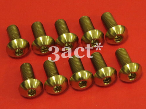 10pcs M5 x 12mm Gold Titanium//Ti Bolt fit Bontrager FSA Elite Carbon Bottle Cage