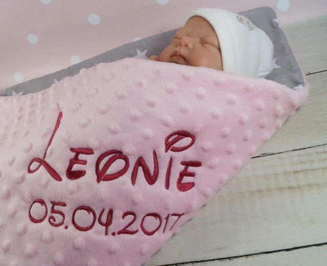 Baby-Kuscheldecke mit  Namen u Motiv  ca70 x 100 cm