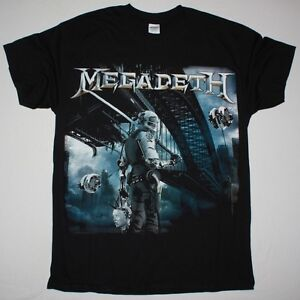 megadeth dystopia dave mustaine anthrax heavy metal new black t shirt ebay. Black Bedroom Furniture Sets. Home Design Ideas