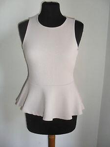 T-shirt-Maglia-Maglietta-H-amp-M-Aderente-con-Balze-Tg-Small-COMPRALO-SUBITO