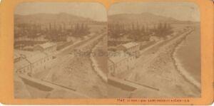 Genova Il Port Italia Stereo J.Andrieu Parigi Albumina Ca 1870