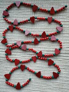 Heart Wood Bead Garland
