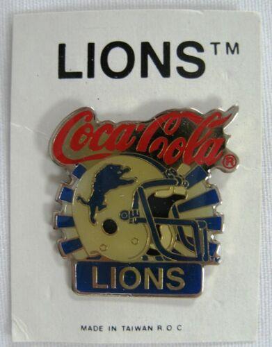 New 1997 Coca Cola Detroit Lions Lapel Pin