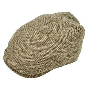 2e3828b7ba2 Details about Men s Tweed Ivy Cap Hat Plaid Gatsby Wool Blend Newsboy  Cabbie Wool Blend Brown