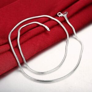 High-Polished-Herringbone-Necklace-Chain-18K-White-Gold-Plated-2-2mm-ALL-SIZES