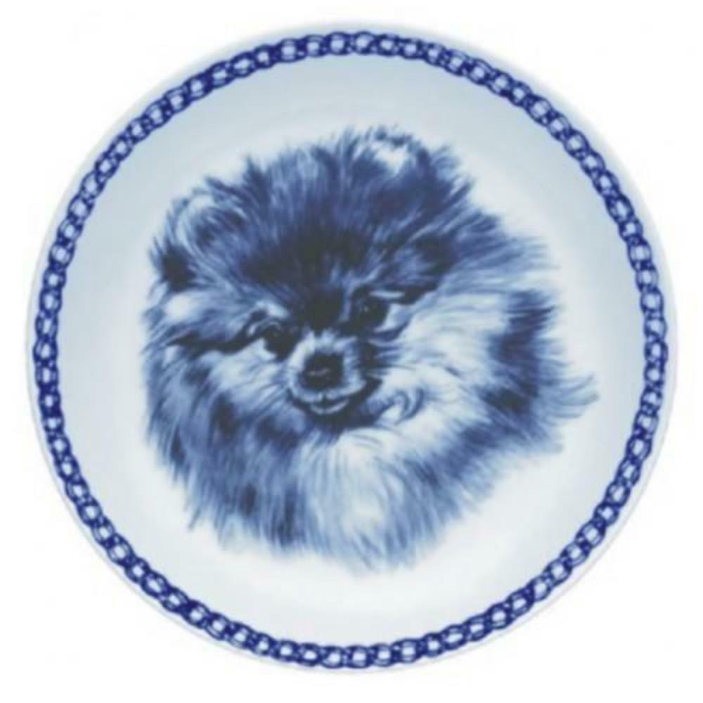 Pomeranian - Dog Plate made in Denmark from the finest European Porcelain