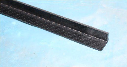 Ángulo de fibra de Cochebono 2 Mm x 25 Mm x 25 Mm x 1 metros preimpregnado brillante ambos lados Epoxi