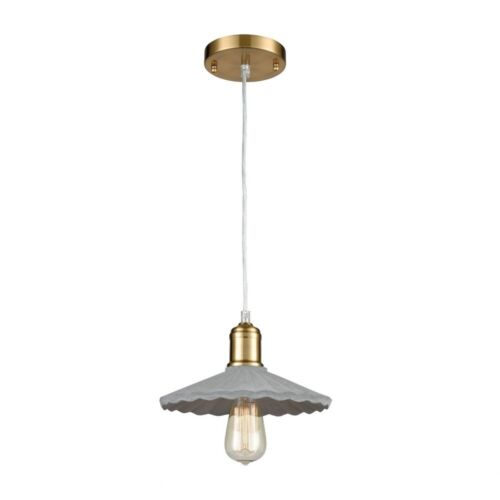One Light Pendant  Concrete//New Aged Elk-Home-1201-020-Wave of the Future