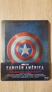 Captain-America-Trilogy-Steelbook-Neu-amp-OVP